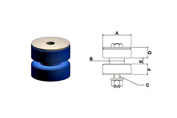 Isoflex Polymer Mounts _ Dual Compression Mounts
