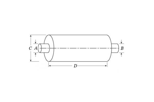 Nelson Global Standard Line Mufflers_Type 1 Muffler - End In _ Opposite End Out - Both On Centre