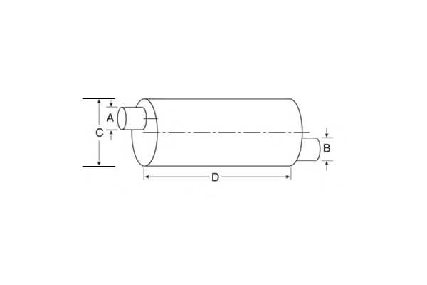 Nelson Global Standard Line Mufflers_Type 2 Muffler - End In _ Opposite End Out - Both Offset