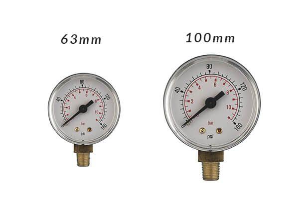Pressure Gauges _ Bottom Connection