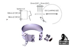 Silverback Chrome   Monster Stainless Chrome Clamps KWA Style